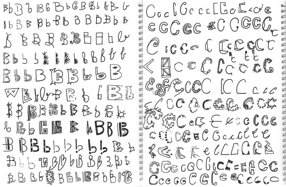 Letter Doodle - big